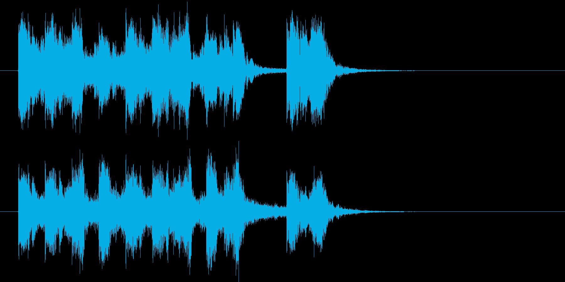 華麗で明るいテクノポップジングルの再生済みの波形