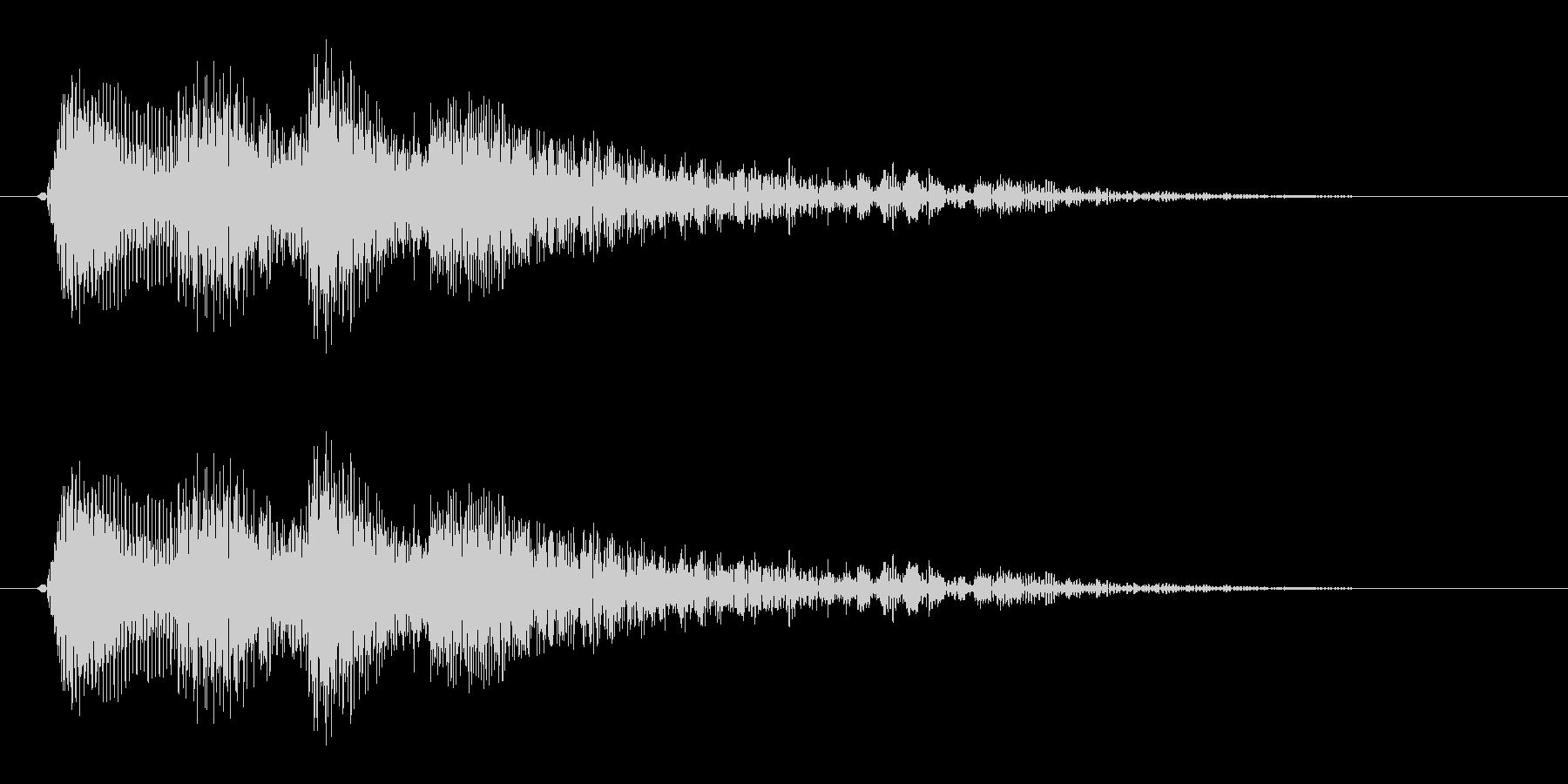 シンセサイザーで作ったマンガチックな琴…の未再生の波形