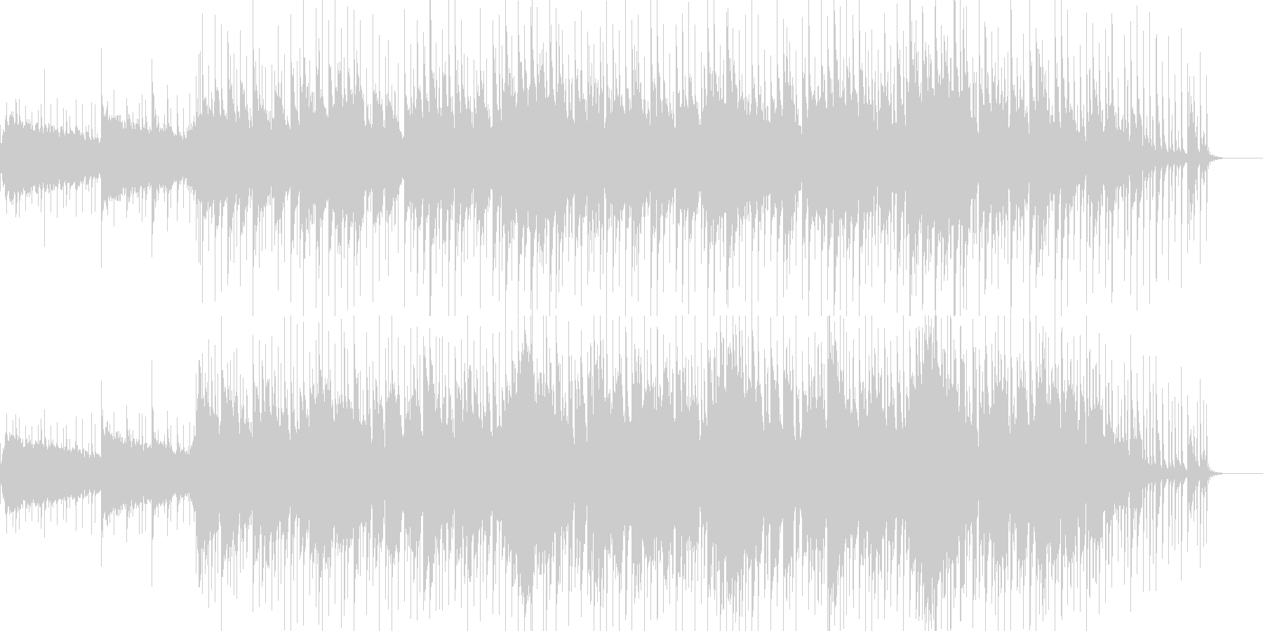沖縄をイメージして作りましたの未再生の波形