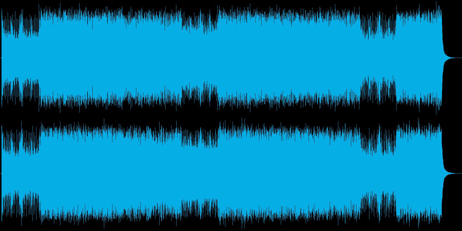 パンクでエキサイティングなエレキサウンドの再生済みの波形