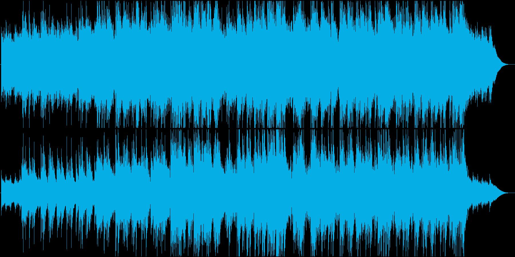 ゆったりとしたアコースティックギター曲の再生済みの波形