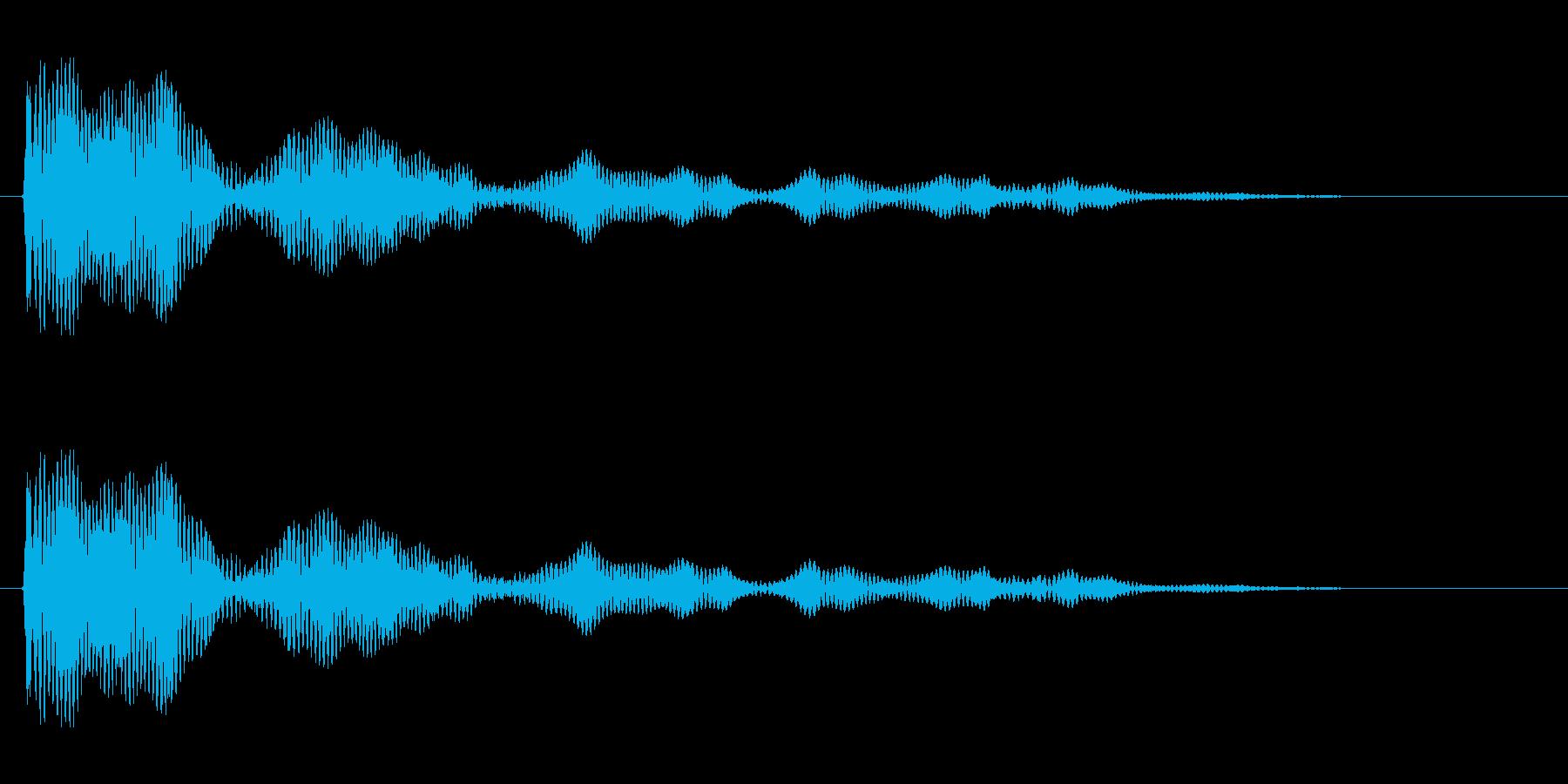 カァワァワァワァ〜ンという金属音の再生済みの波形