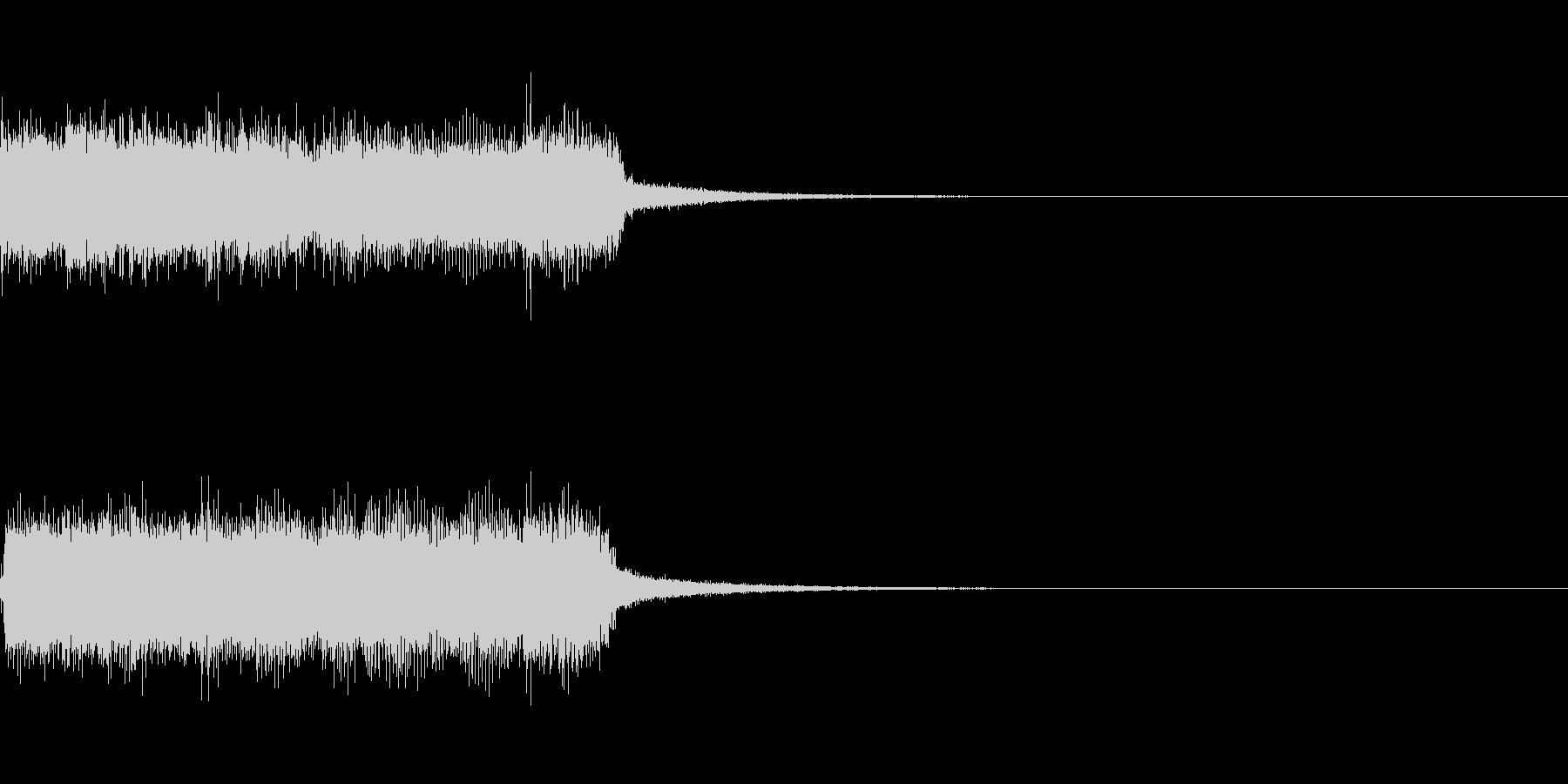 ステージクリア ロック ジングルの未再生の波形