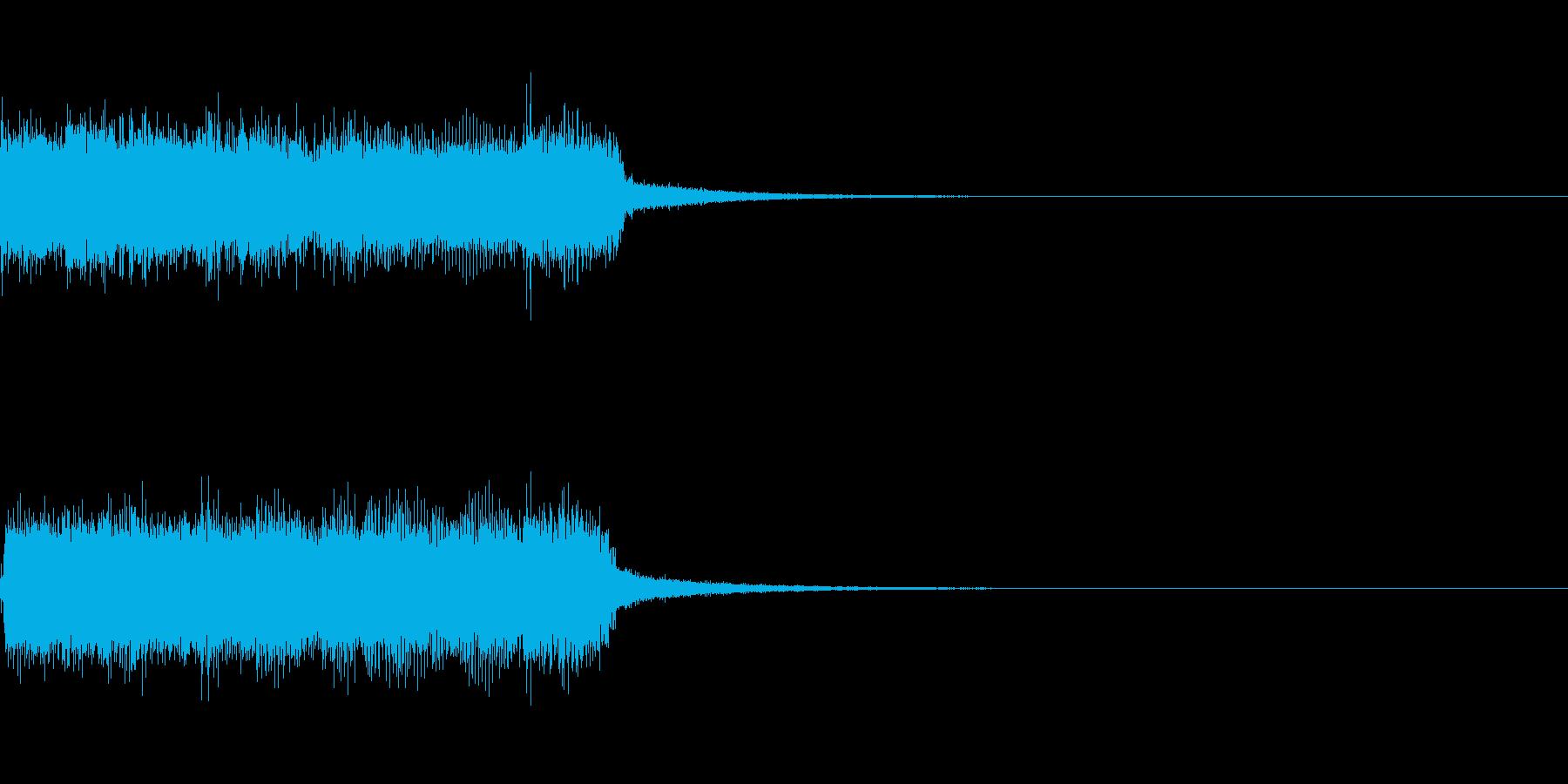 ステージクリア ロック ジングルの再生済みの波形