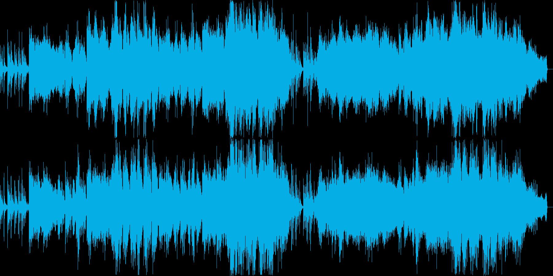 オリエンタルな雰囲気のバラードの再生済みの波形