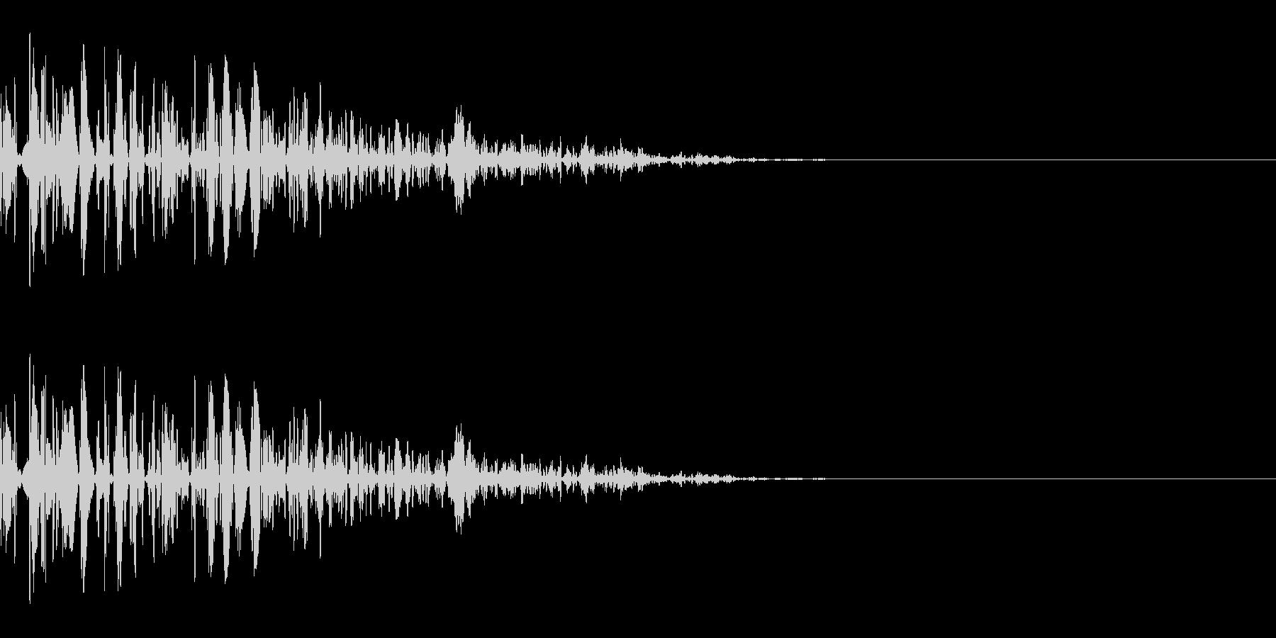 ドッ(防御/ガード/重め)の未再生の波形