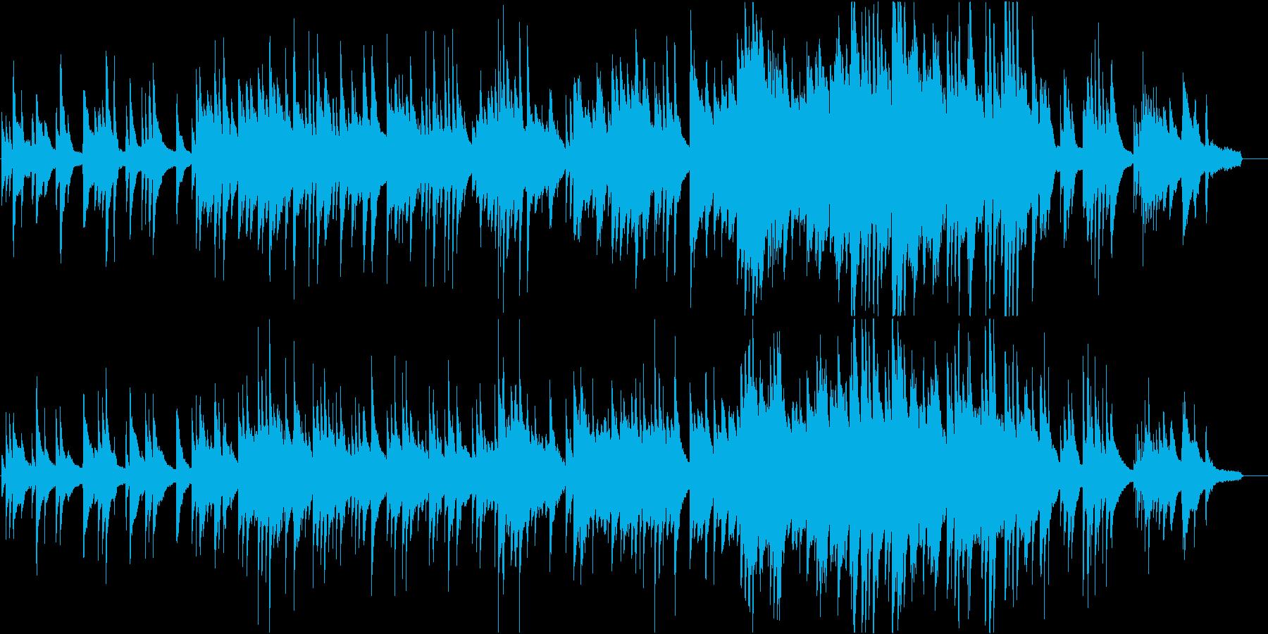 ピュアでほっとするピアノ曲の再生済みの波形