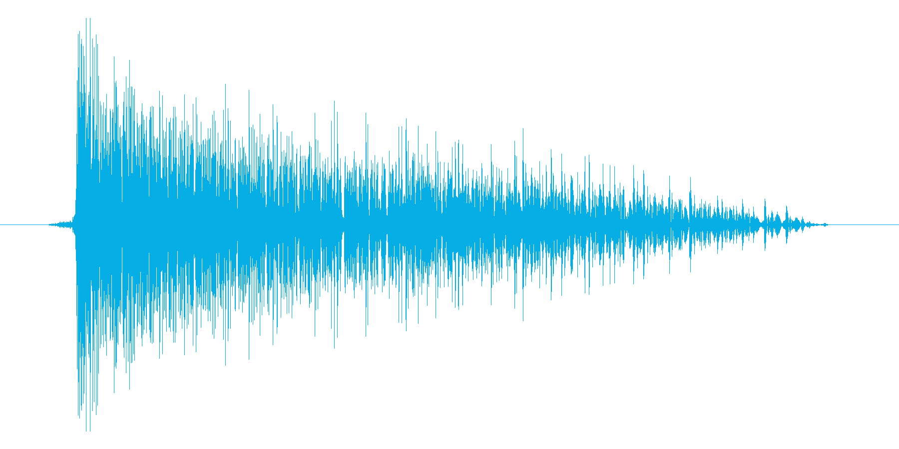 ゲーム(ファミコン風)爆発音_012の再生済みの波形