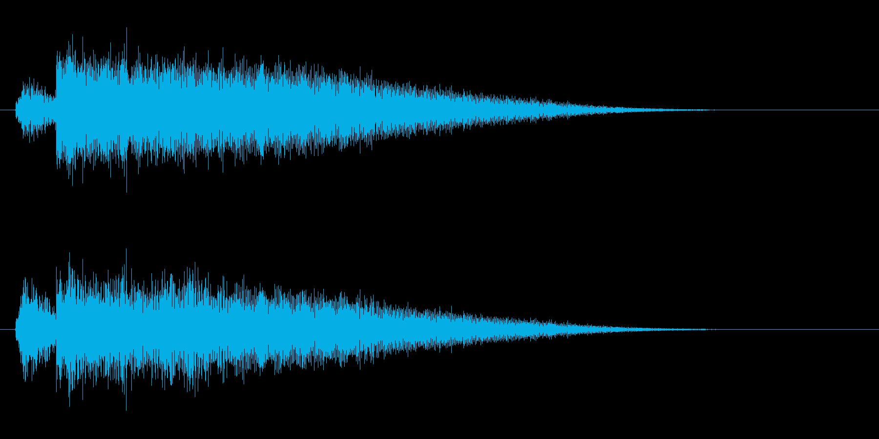 カキーン(高めの音)の再生済みの波形
