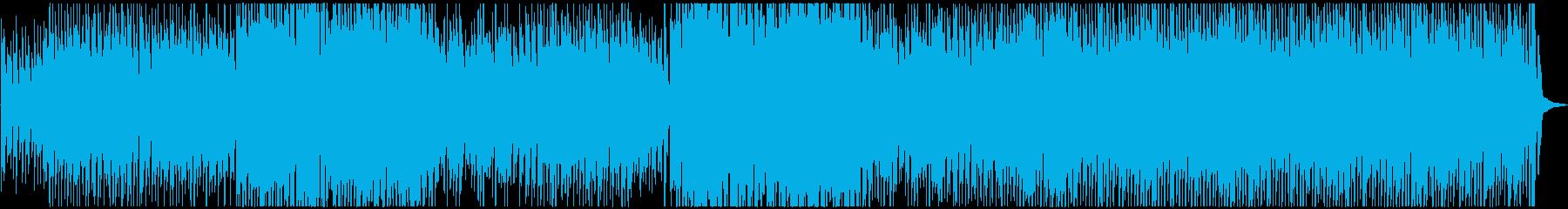 ワクワク、コミカル、ピアノの再生済みの波形