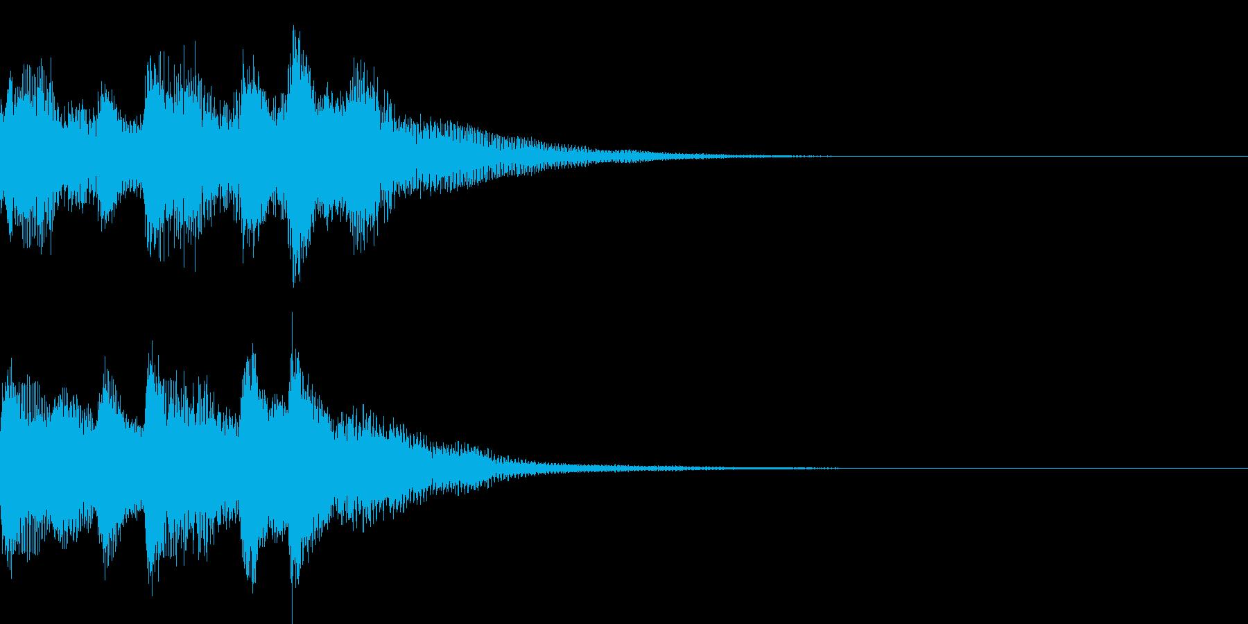 ピアノでシンプルに奏でるサウンドロゴの再生済みの波形