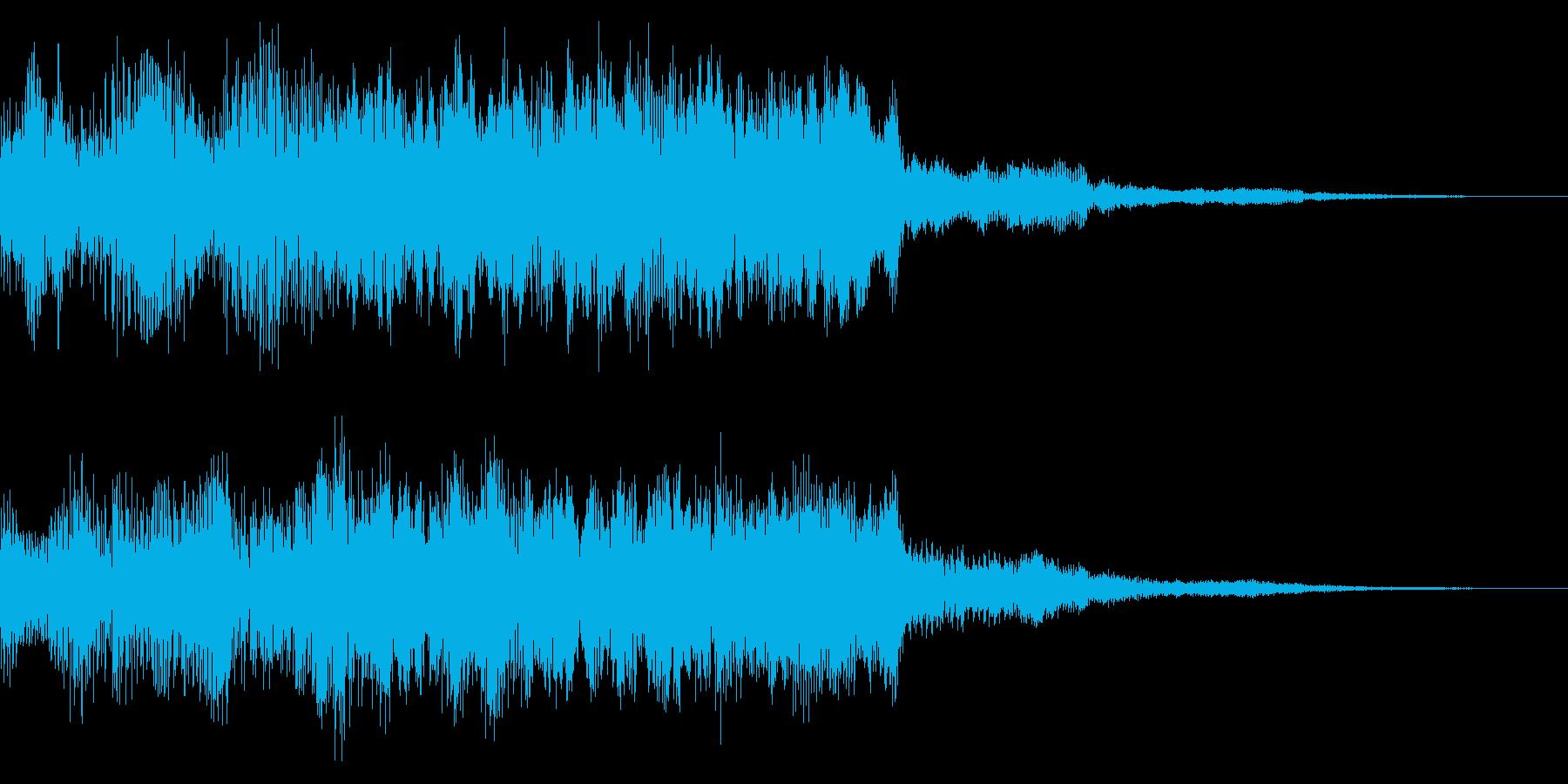 レトロなスタージクリア音 目標達成 完了の再生済みの波形