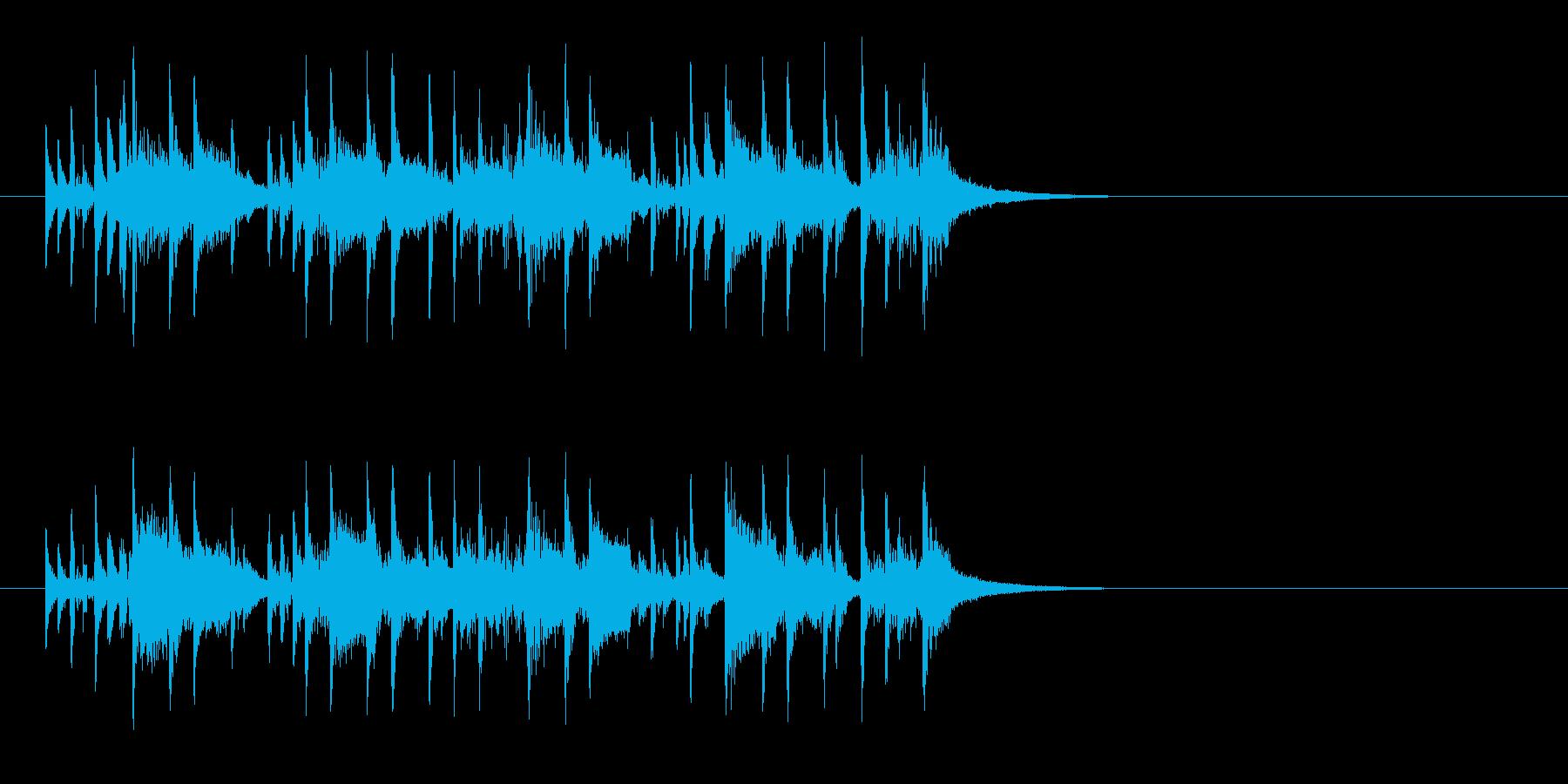 ジングル(報道番組風)の再生済みの波形