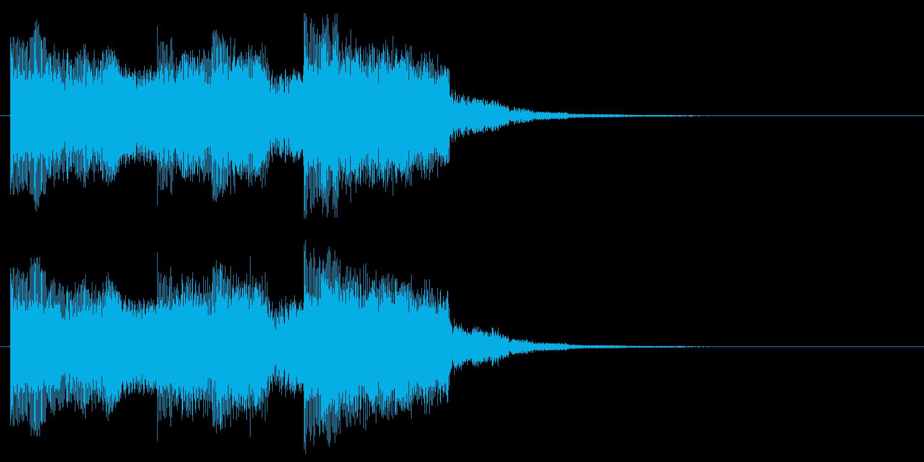 柔らかめなアラート 危険 警報 コミカルの再生済みの波形