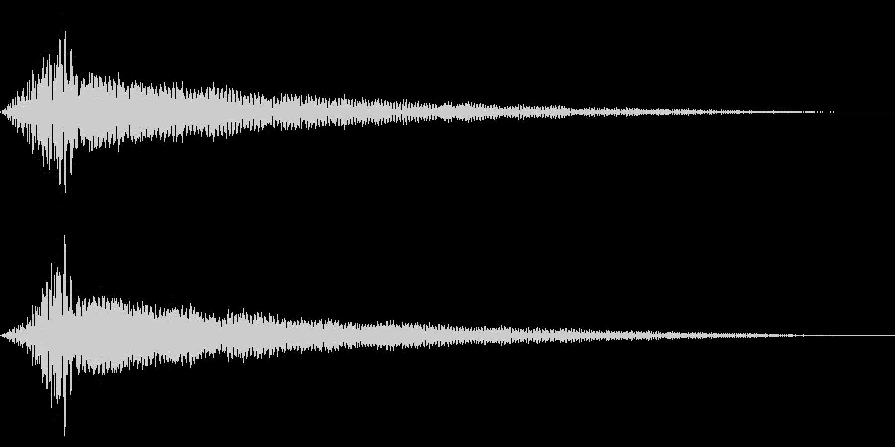ホラー系アタック音67の未再生の波形