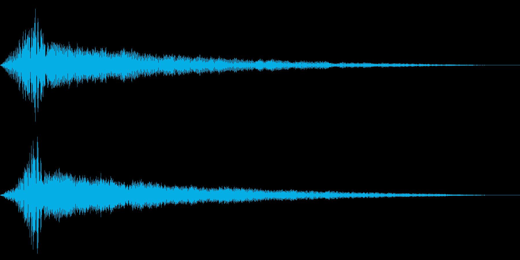 ホラー系アタック音67の再生済みの波形