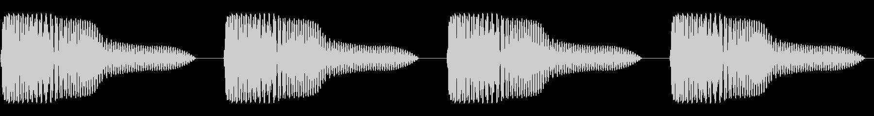 ゴムボール(4回)の未再生の波形