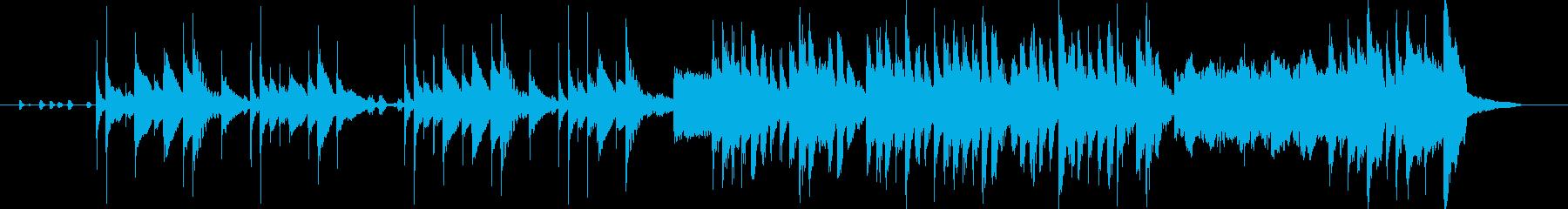 打楽器と電子音の民俗風ジングルの再生済みの波形