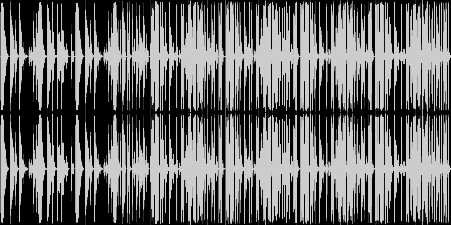 短い曲ですの未再生の波形