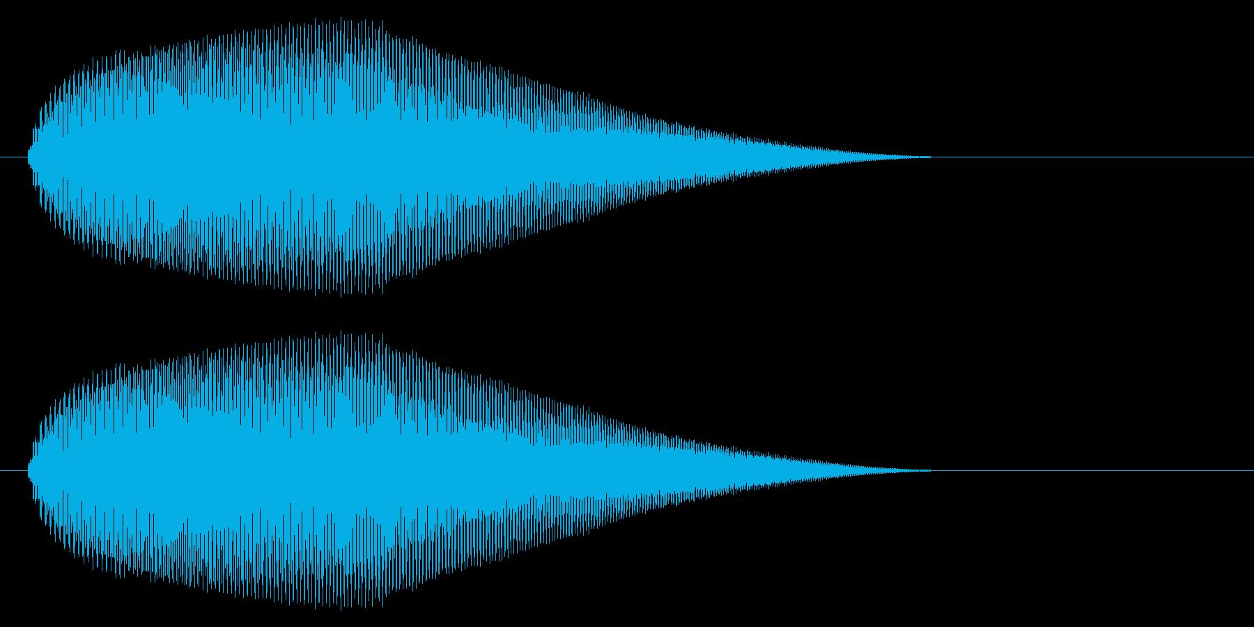 【ピヨーン】ファミコン系ジャンプ音_04の再生済みの波形