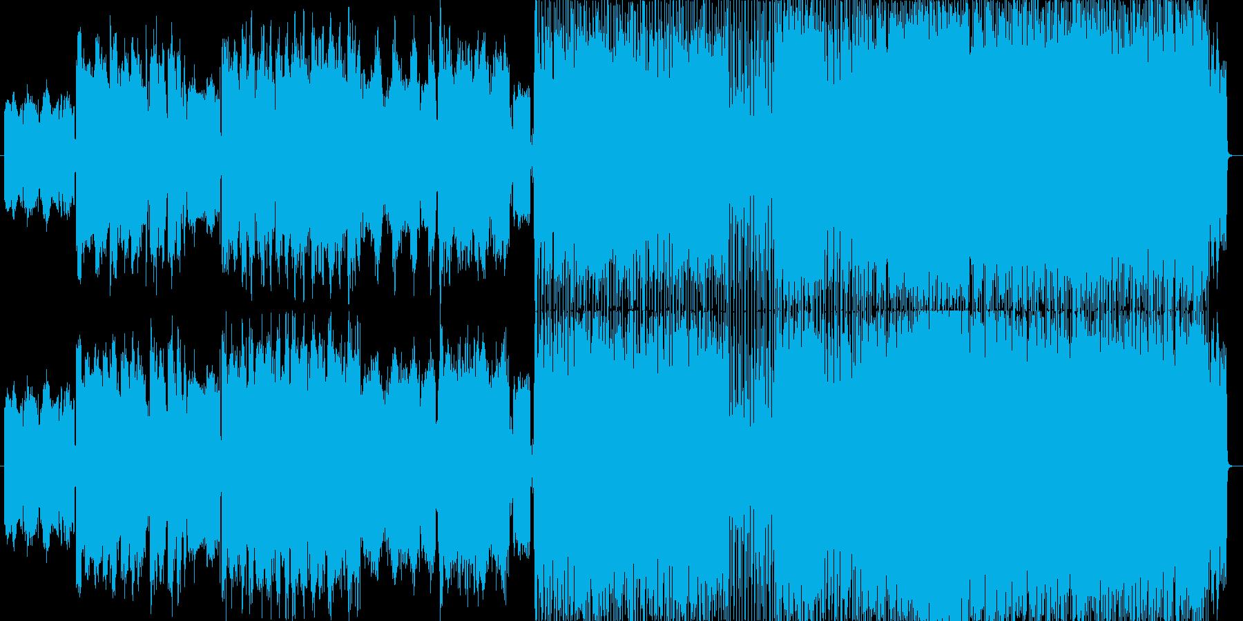 アイリッシュ風プログレッシブロックな曲…の再生済みの波形