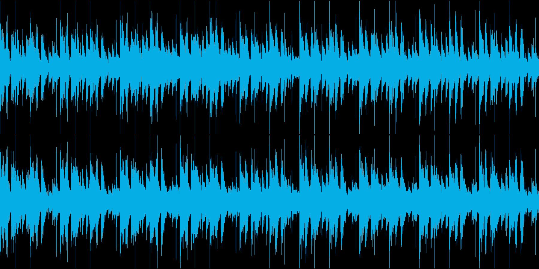 BPM110のループ可能BGMの再生済みの波形