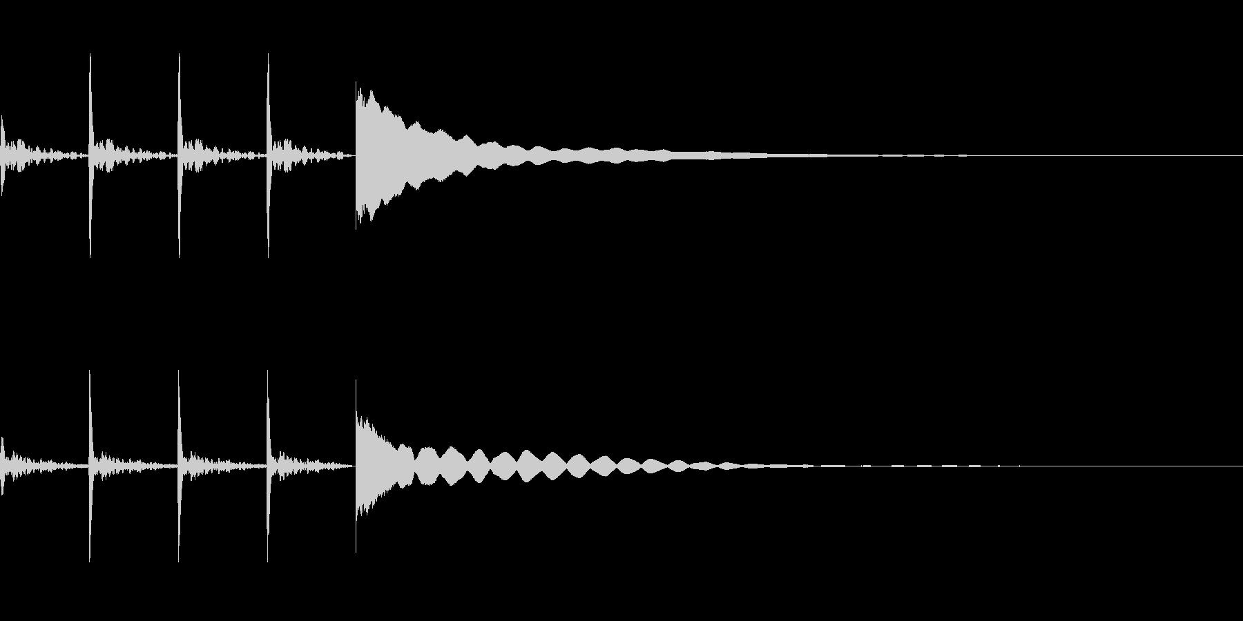 考え中~ポクポクチーン~の未再生の波形