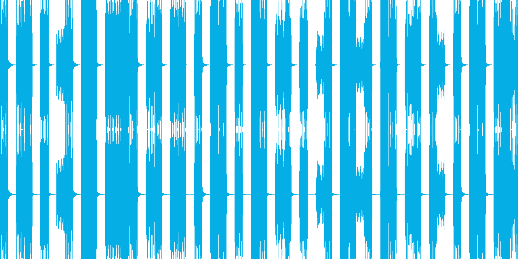 壊れたPCの様な音 ザップ音の再生済みの波形