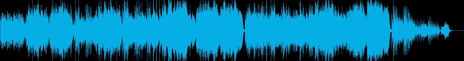 感動映像のためのピアノとストリングスの再生済みの波形