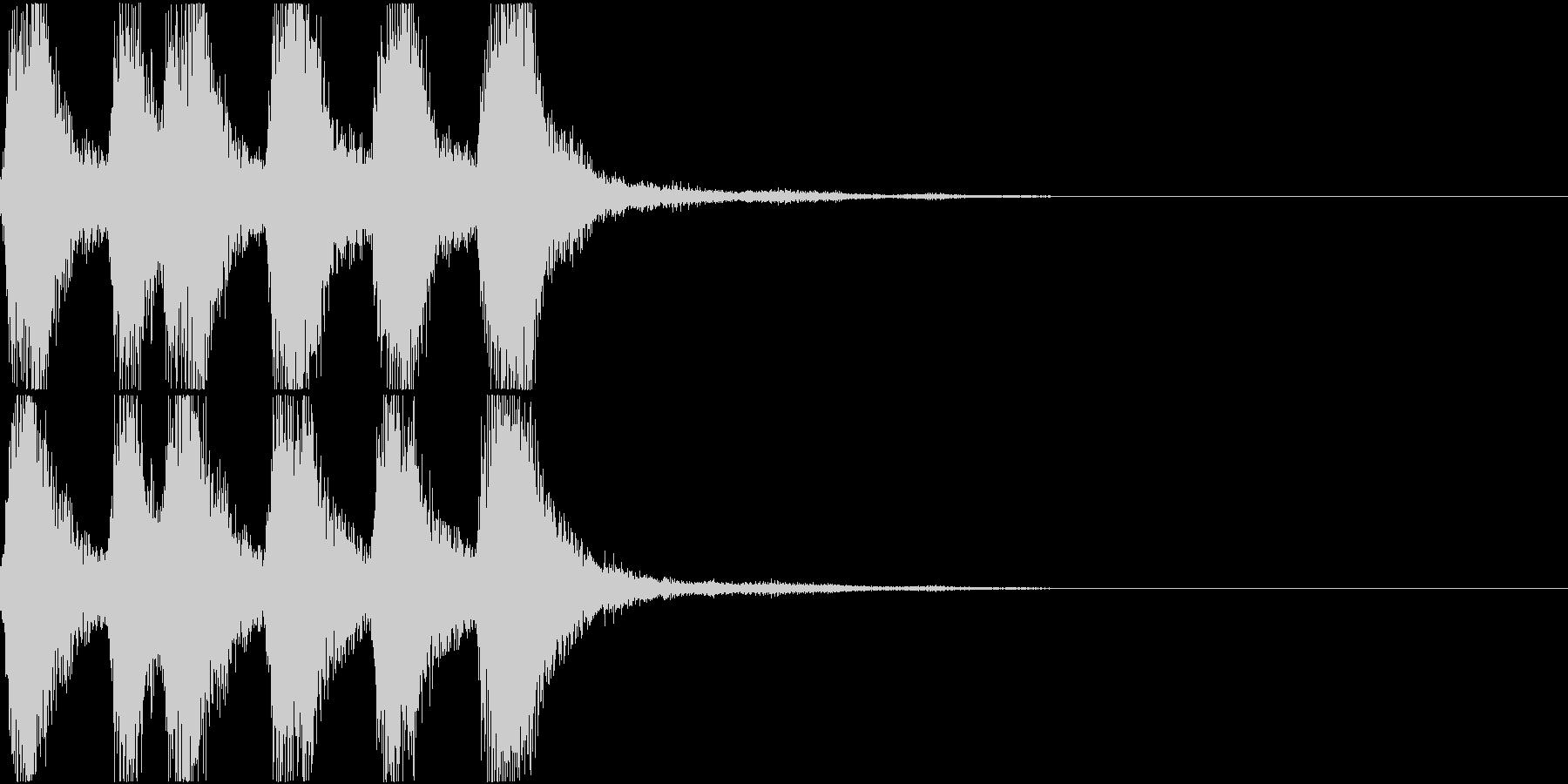 ラッパ ファンファーレ 定番 15の未再生の波形