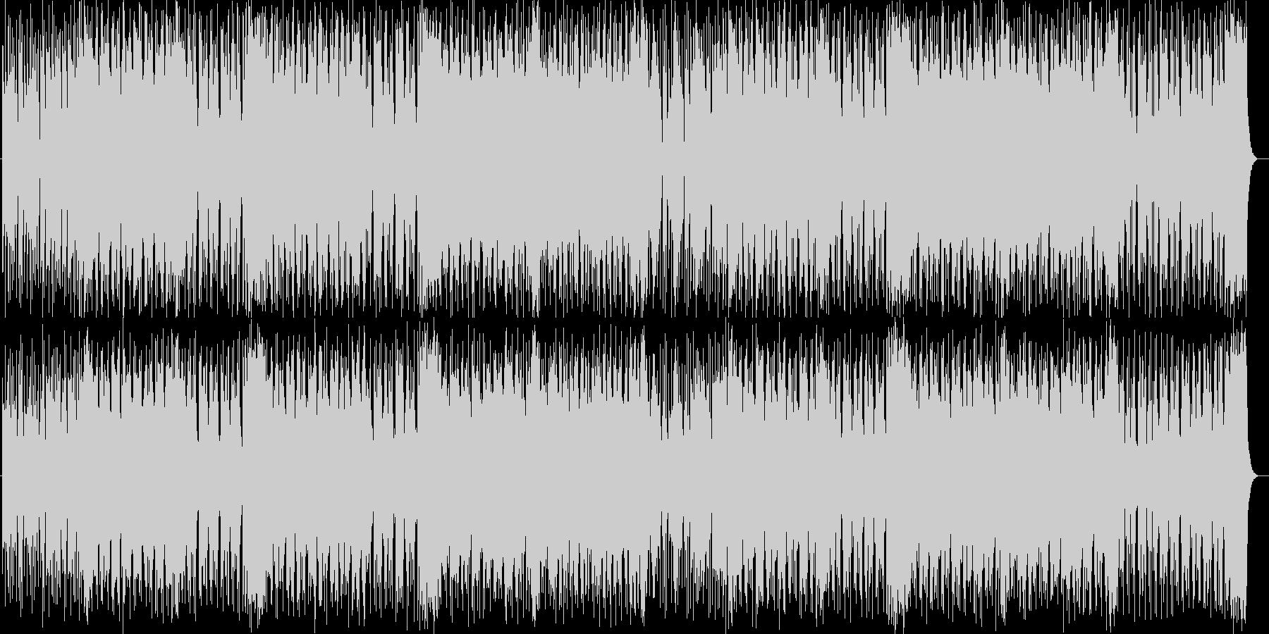 ドラマチックなシンセサイザーサウンドの未再生の波形