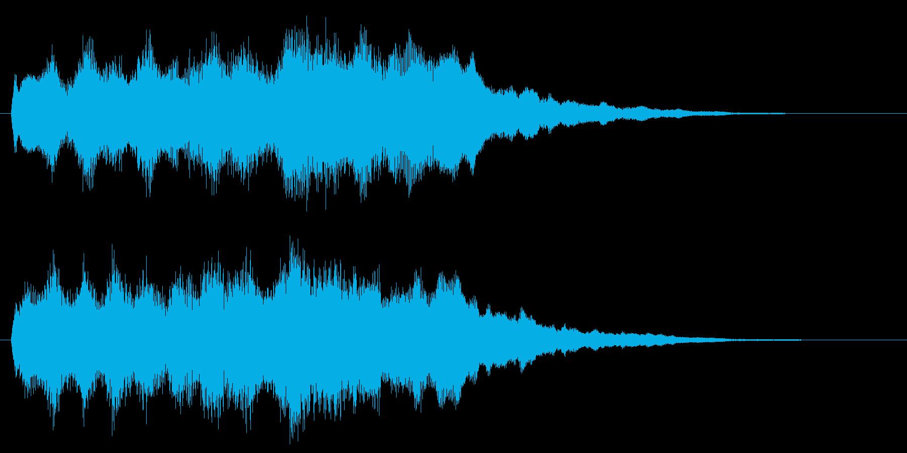 パイプオルガンで不安感あおるジングルの再生済みの波形
