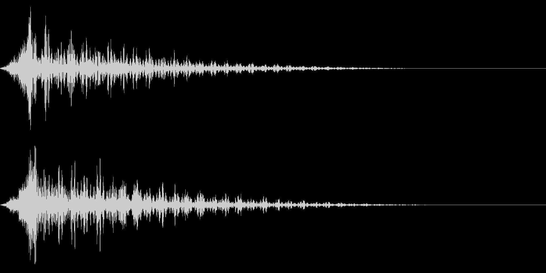 ホラー系アタック音96の未再生の波形