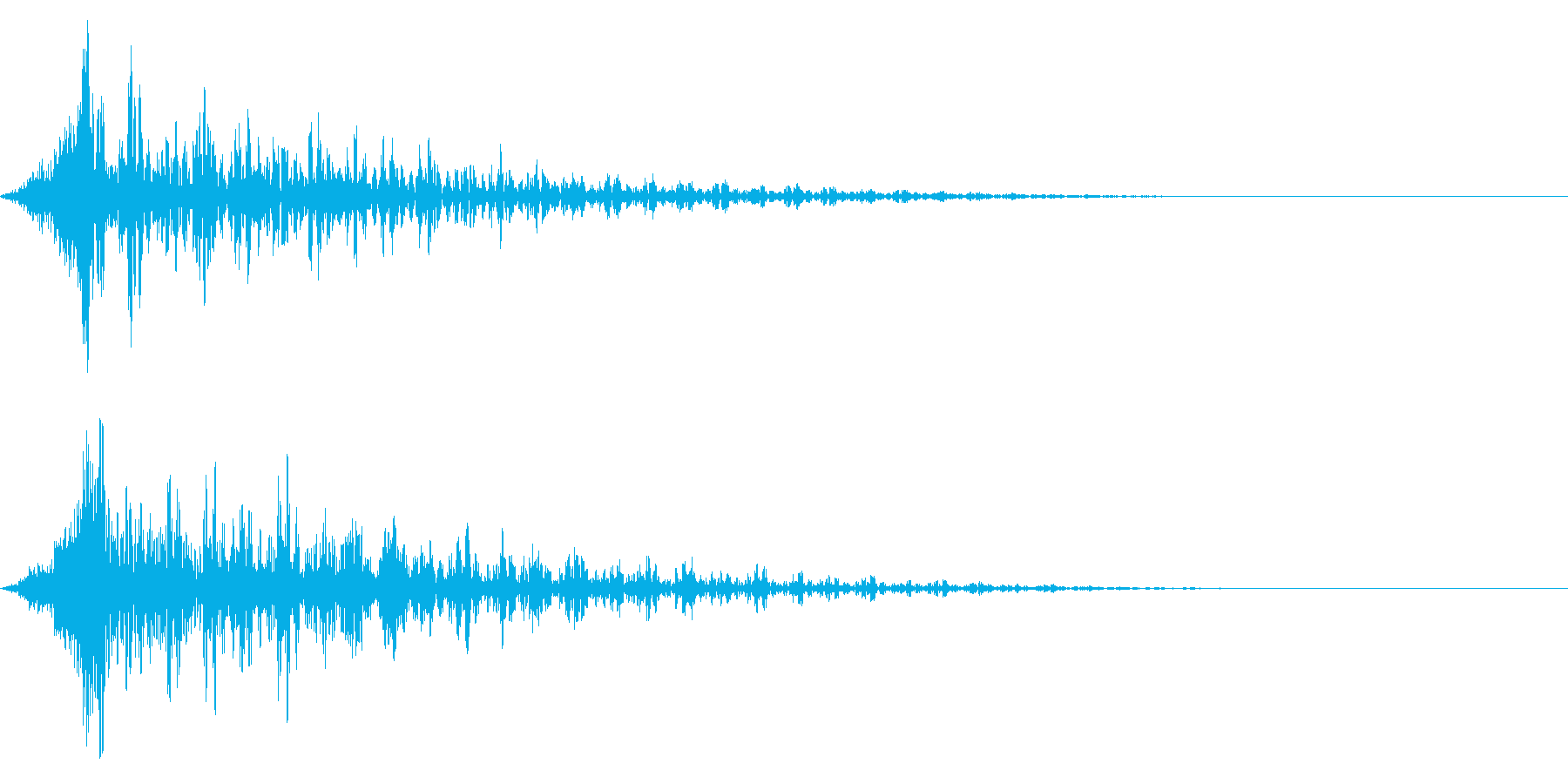 ホラー系アタック音96の再生済みの波形