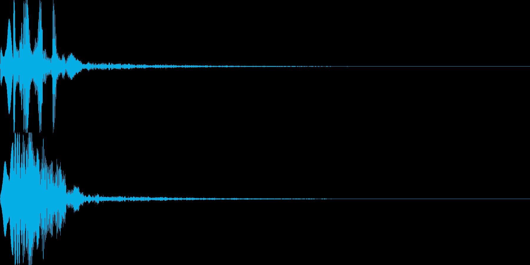 システム音25_シンセDSの再生済みの波形