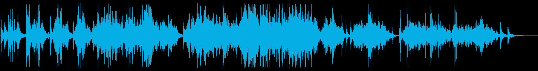優雅で美しいピアノBGMの再生済みの波形