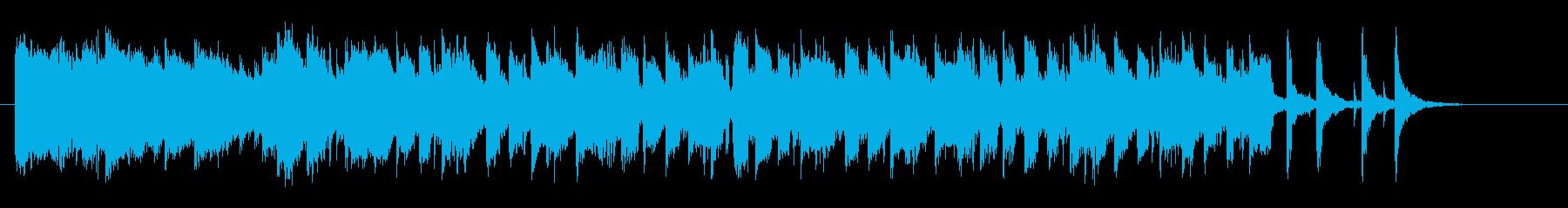 穏やかなシンセバラードの再生済みの波形