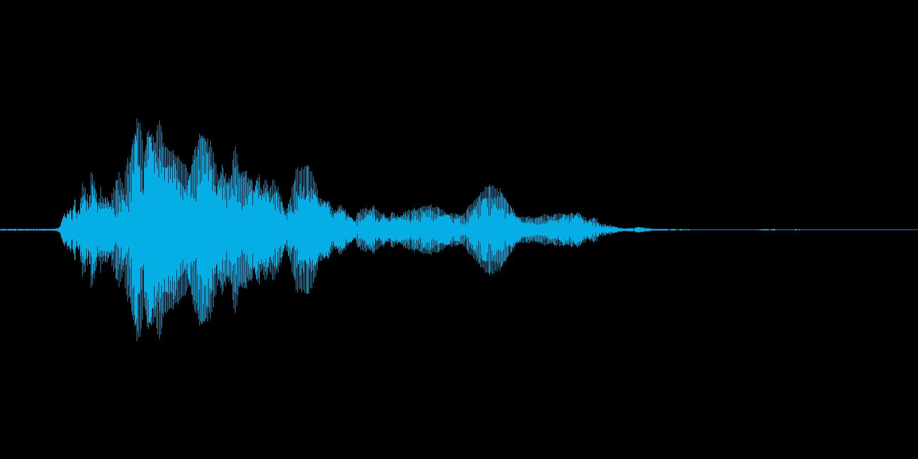 猫の鳴き声2の再生済みの波形