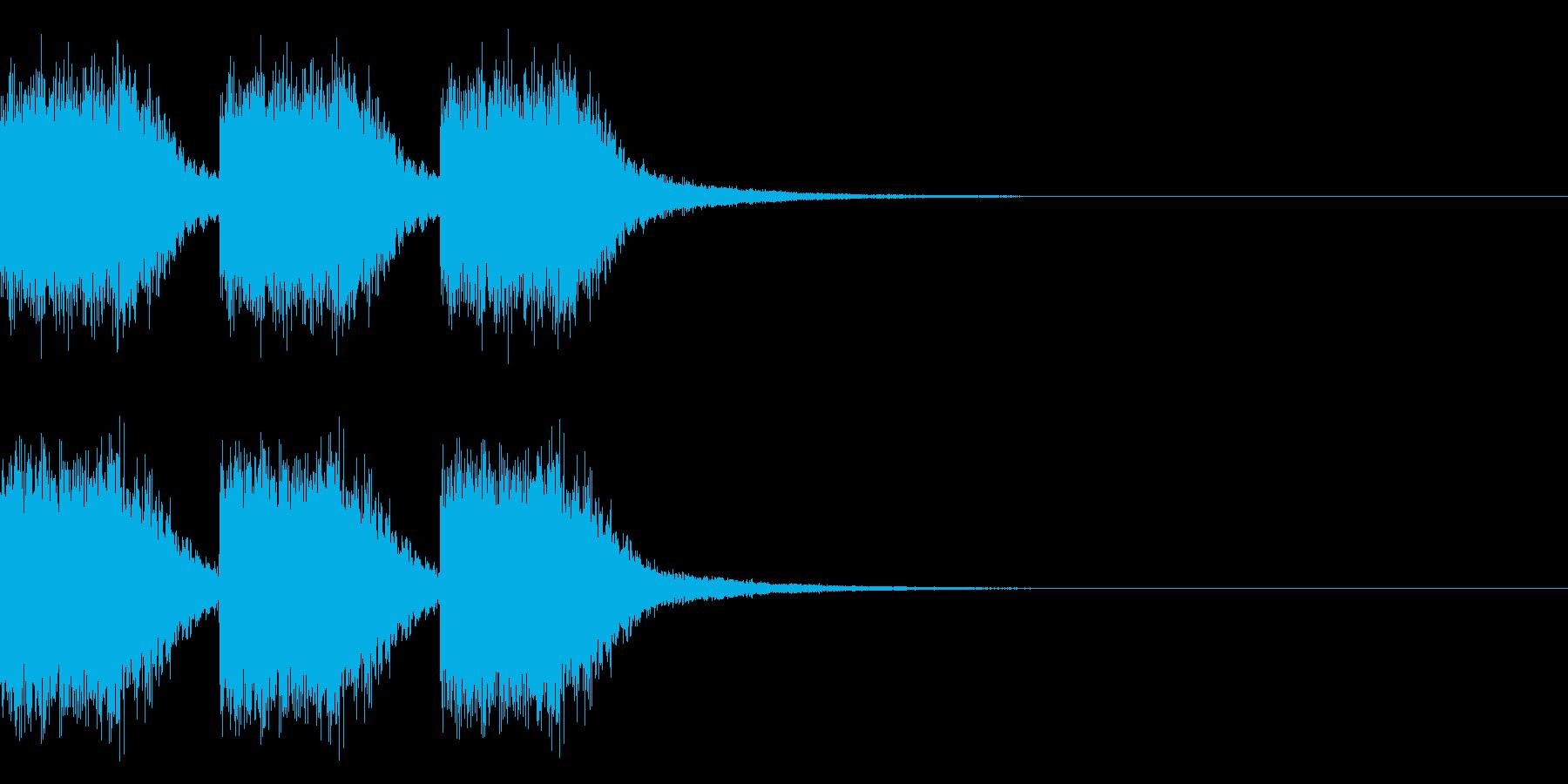 注意、警告音、警報の効果音です!09の再生済みの波形
