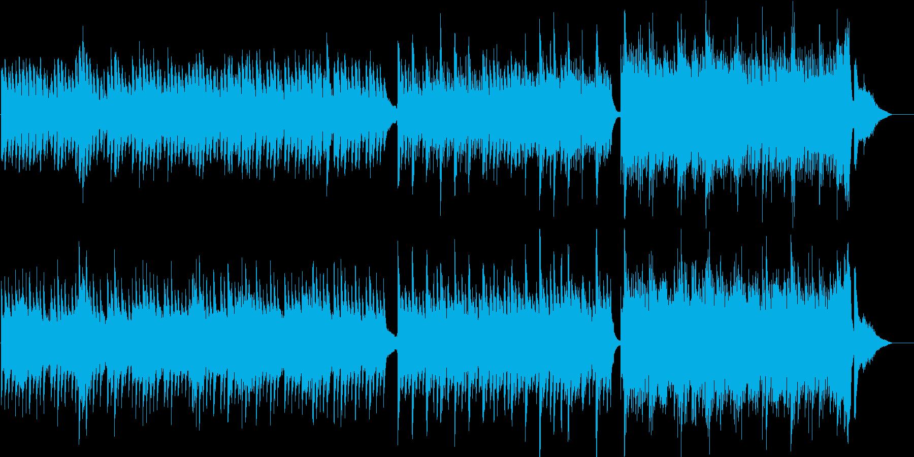 ピアノとストリングスの優しい曲07の再生済みの波形