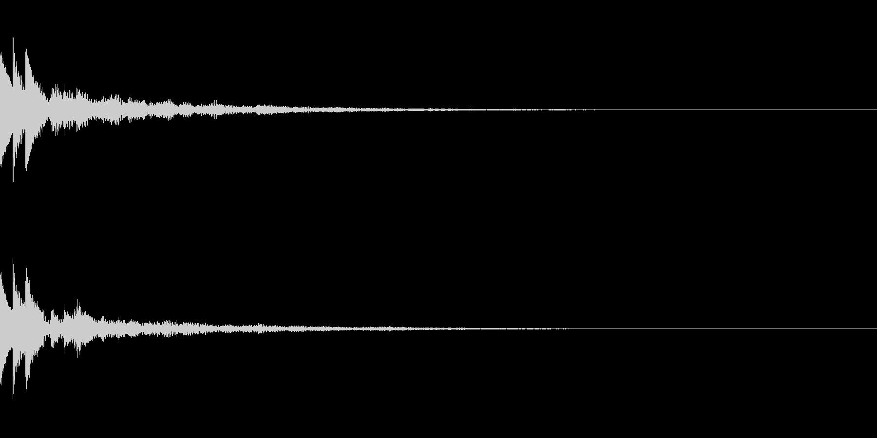 綺麗なボタン音01(長め)の未再生の波形