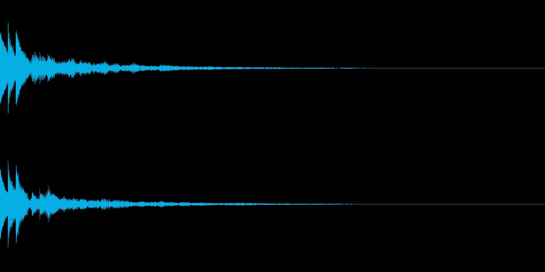 綺麗なボタン音01(長め)の再生済みの波形