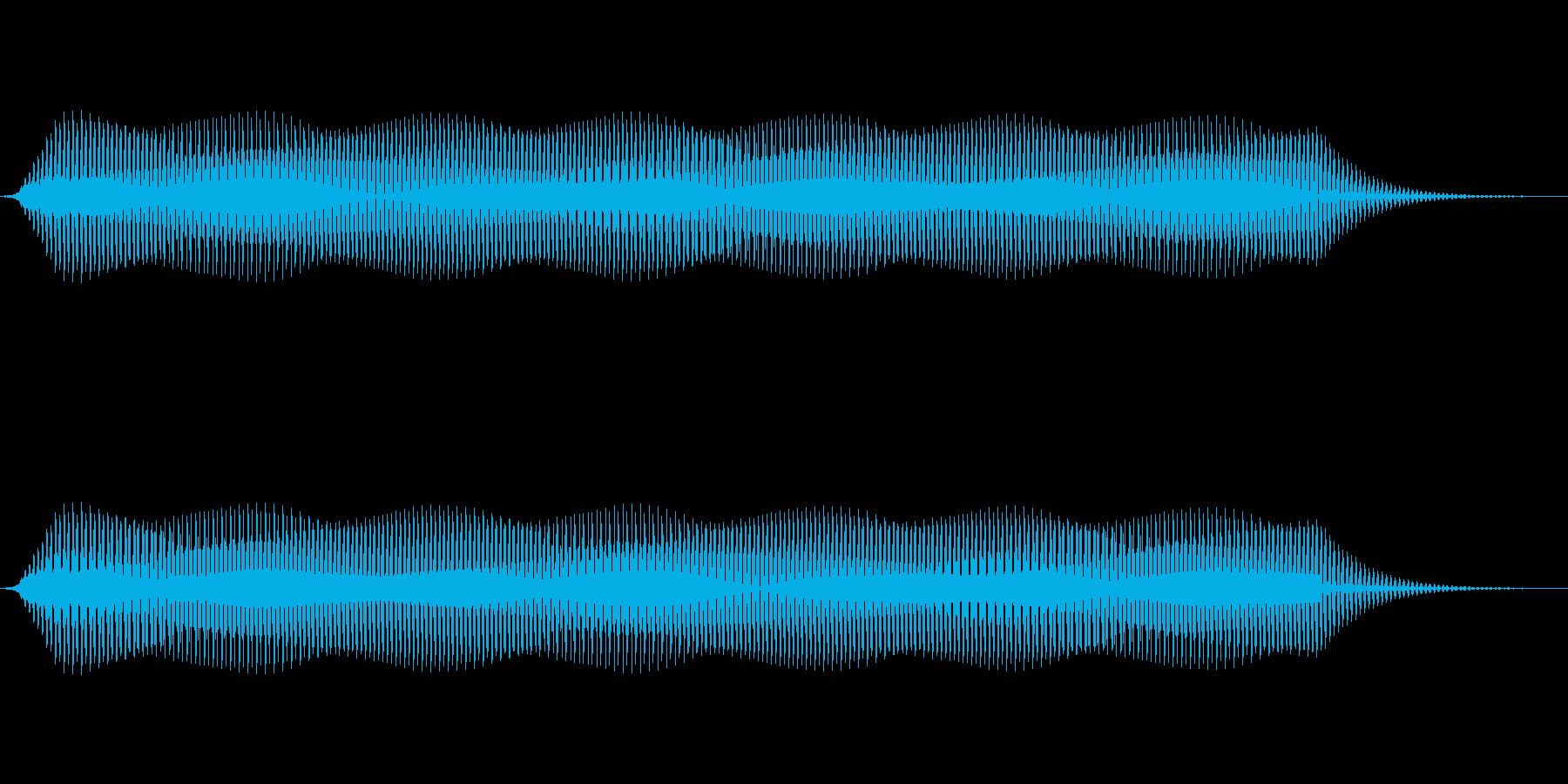 ピッ(電子音、カーソル、選択音) の再生済みの波形