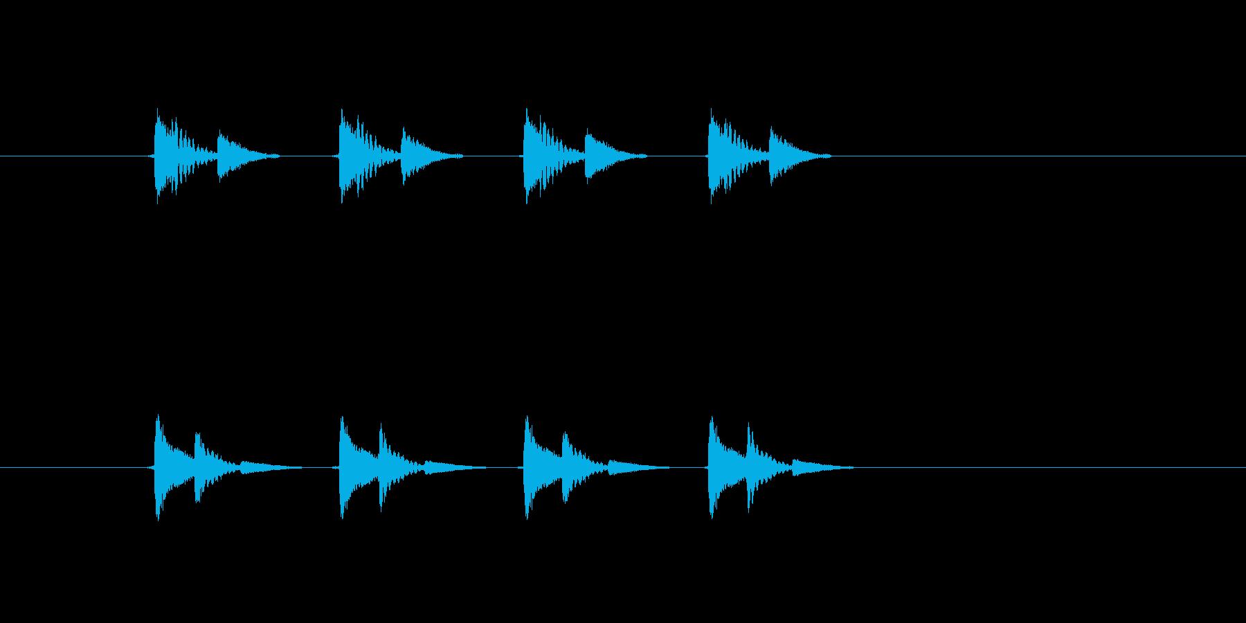 ちょっと和風な4Shotの再生済みの波形