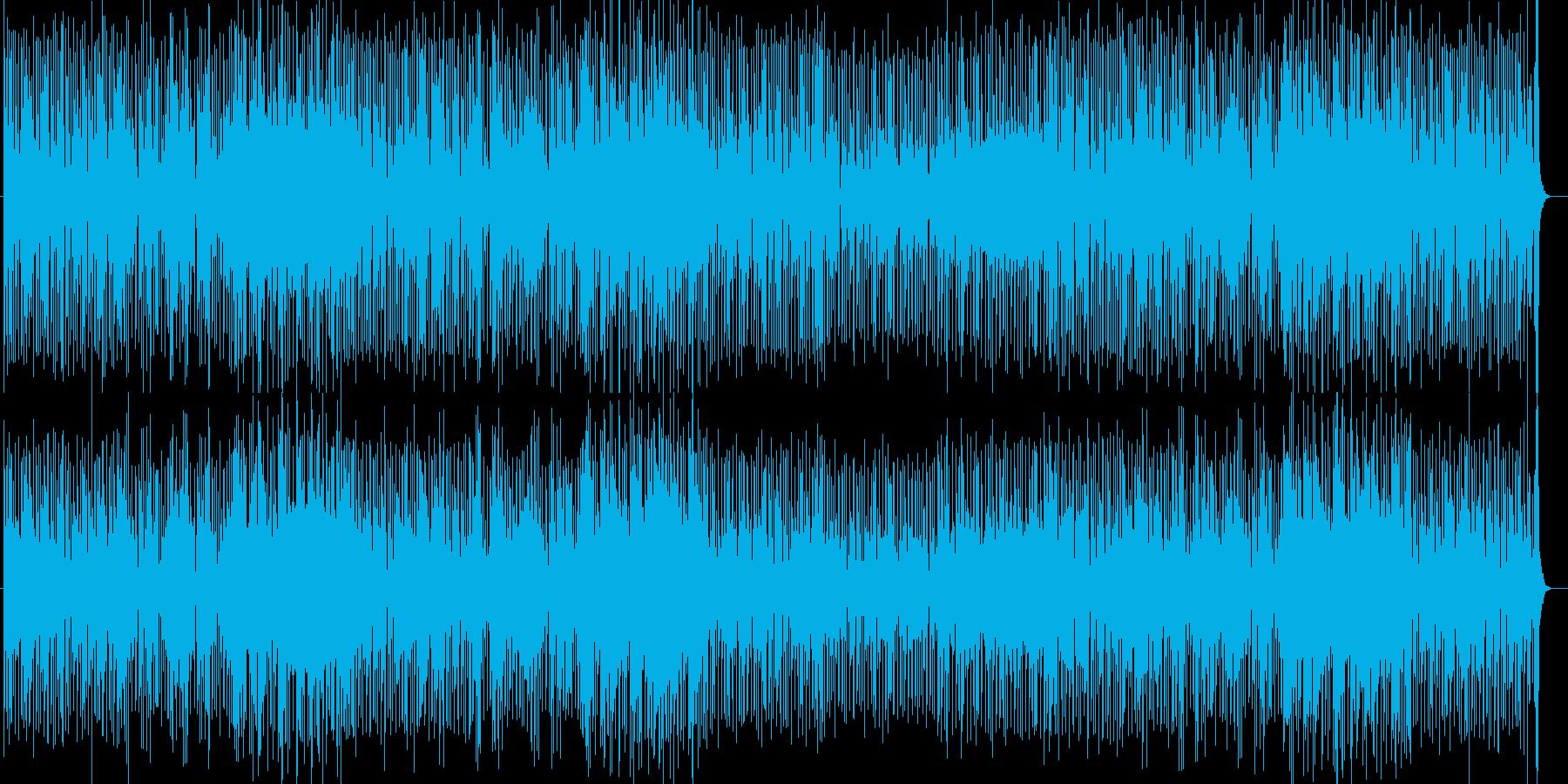 跳ねるピアノメインのイージーリスニング曲の再生済みの波形