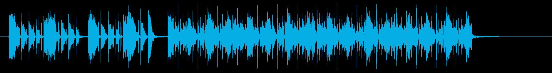 エレキギターの都会的なロックの再生済みの波形