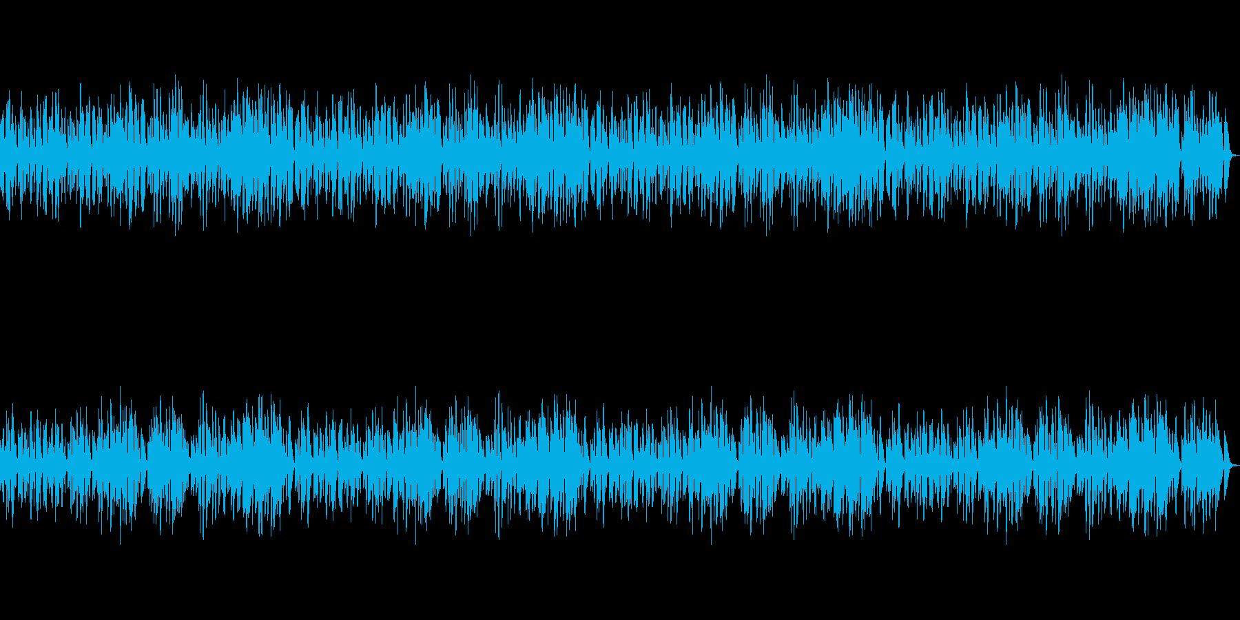 のんびりとした雰囲気のピアノ曲の再生済みの波形
