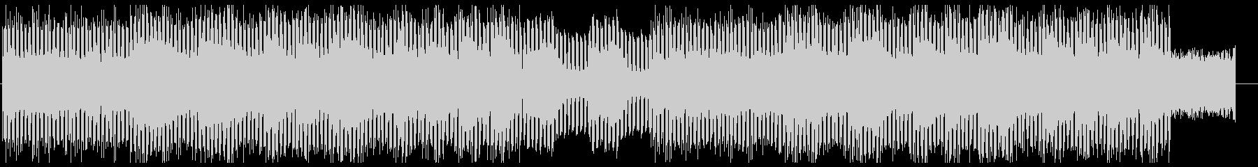 疾走感のあるテクノ調シンセサイザー曲の未再生の波形