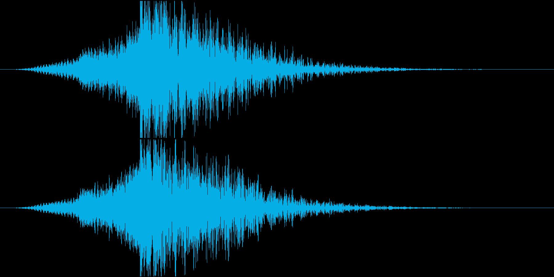 脳に響く機械的なインパクトですの再生済みの波形