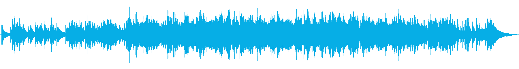 バロックの曲調の再生済みの波形